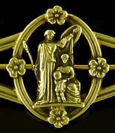 Tiffany Renaissance style pin. (J9337)