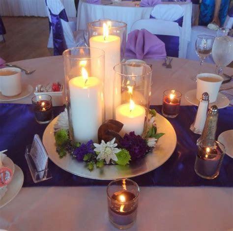 Our simple candle centerpiece : wedding Centerpieces