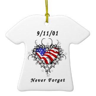 9/11/01 Patriotic Tattoo ornament