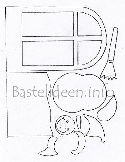 fensterbild winter bastelvorlage - fensterbild tonkarton