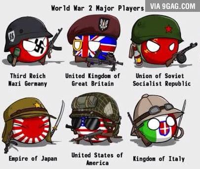WWII Major Players - 9GAG