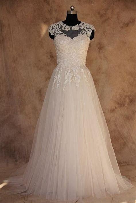 Style BA14 ? Illusion neckline Plus Size Wedding Gown