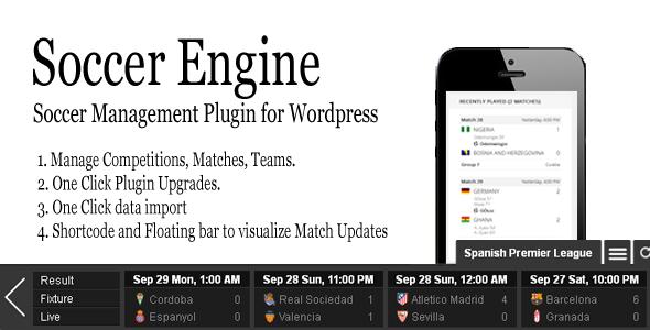 Soccer Engine WordPress Plugin