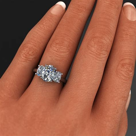 addison ring   2 carat oval NEO moissanite 3 stone