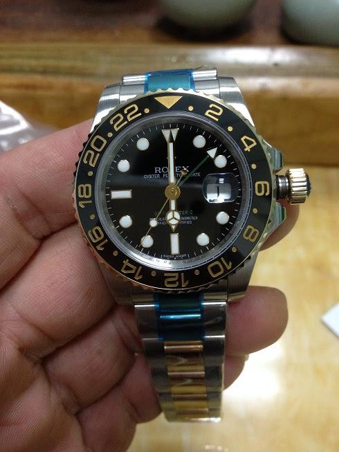Noob Rolex 116713LN GMT Master II YG Wrapped 3