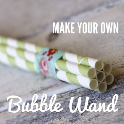 You have your blog, we have Aars: Summer Fun: Bubble Wand