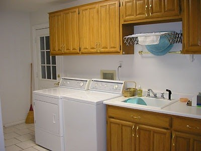 Laundry room Sink with Cabinet & drying rack