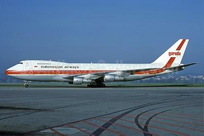 Garuda Indonesian Airways Boeing 747-2U3B PK-GSA (msn 22246) ZRH (Rolf Wallner). Image: 913547.