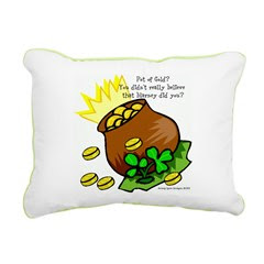St. Paddys Pot of Gold Rectang. Canvas Pillow