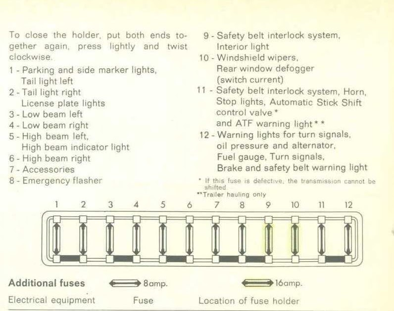 1969 Vw Fuse Box Diagram