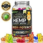 Hemp Gummies Premium 35000 milligramm High Potency – Fruity Gummy Bear with Hemp Oil – Natural Hemp Candy Supplements for Pain, Anxiety, Stress & Inflammation Relief – Promotes Sleep and Calm Mood