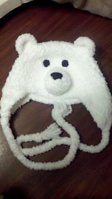 Ravelry: Fuzzy Polar Bear Hat by Ashley Phelps