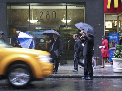 Hailing in the rain, Midtown