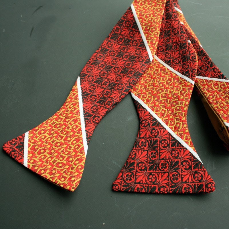 freestyle bow tie- red and yellow