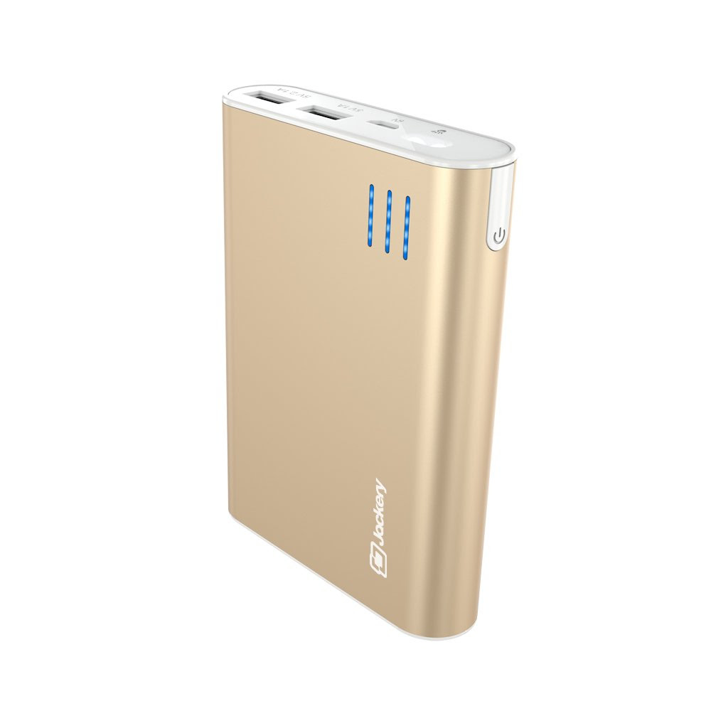 Jackery Giant+ Dual USB Portable Battery Charger & External Battery Pack for iPhone, iPad, Galaxy, and Android Smart Devices - 12,000 mAh (Gold) 78% OFF