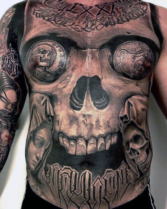 60 Badass Chest Tattoos For Men Manly Ink Design Ideas