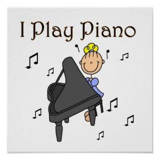 I Play Piano T-shirts and Gifts Poster