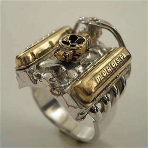Jewelry for Gearheads: The V8 Hot Rod Engine Ring