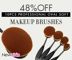 10Pcs Professional Oval Soft Makeup Brushes SKU384086
