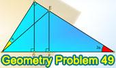 Problema de Geometría 49: Triangulo rectángulo, Ceviana, Perpendicular.