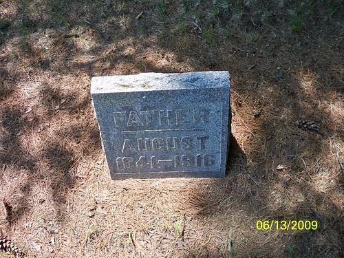 Tombstone of August Schauer