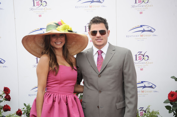 Nick Lachey and Vanessa Milano  attend the 136th Kentucky Derby on May 1, 2010 in Louisville, Kentucky.