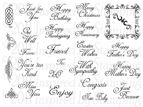 Inspired by Stamping All Year Wishes II Stamp Set