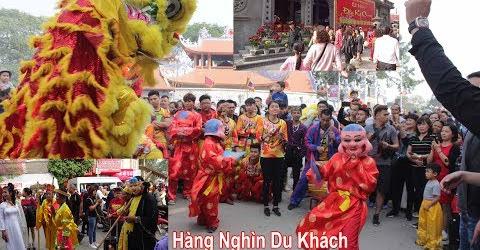 Vietnam Lion dance Múa Lân Tả Phủ lễ hội lớn nhất Lạng Sơn Hàng Nghìn Du Khách