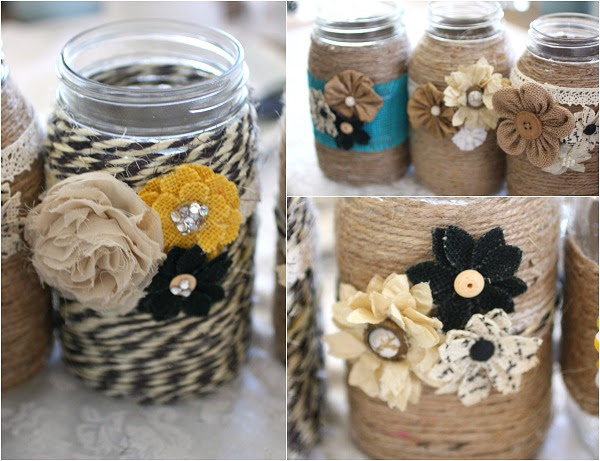 As you well know, I love decorating with mason jars. My 50 ways to use