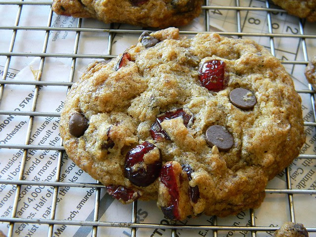 Carob and Cranberry Cookies (with Optional Peanut Crunch!)