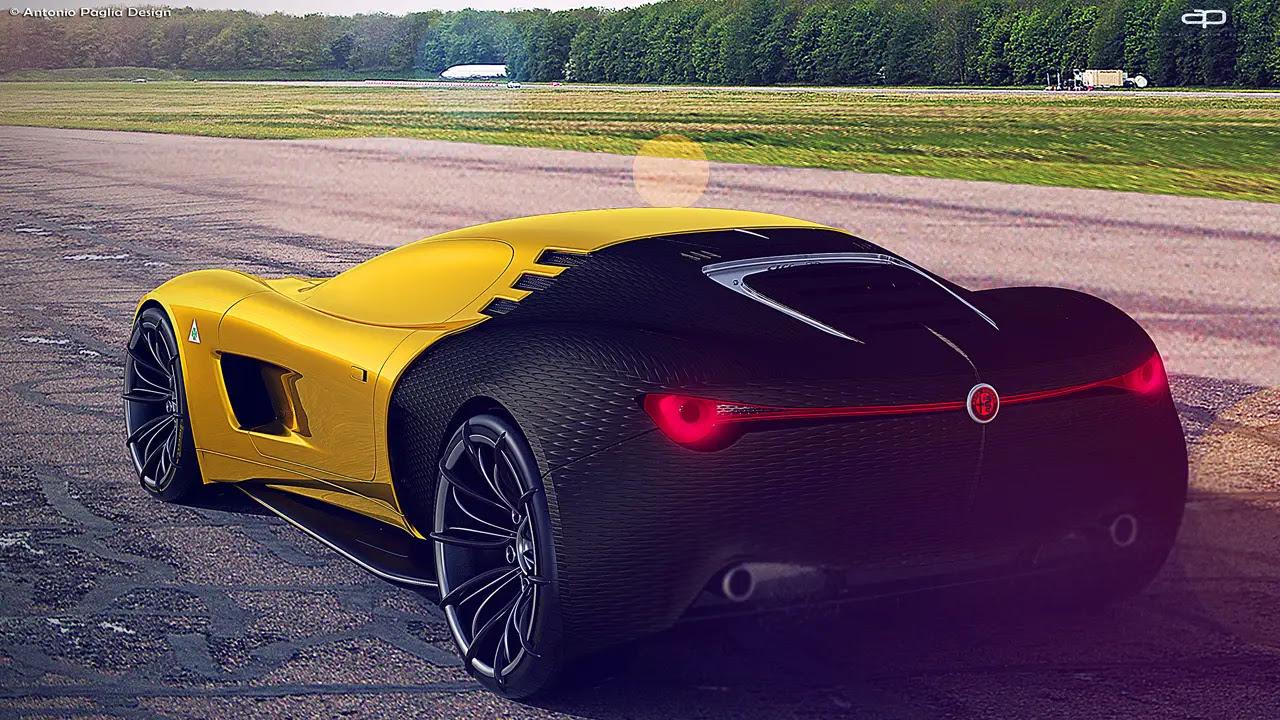 Futuristic Alfa Romeo C18 Concept Car by Antonio Paglia