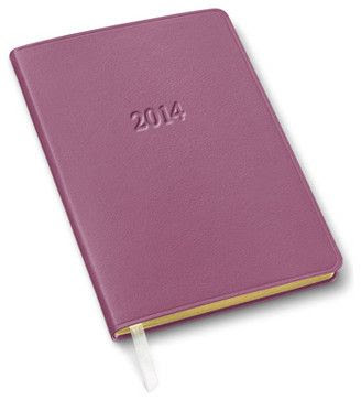 Weekly Leather Desk Planner, Orchid - contemporary - desk accessories - Gallery Leather