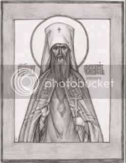 једна од првих икона св. Филарета