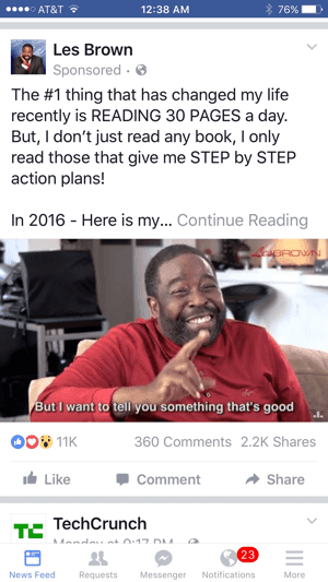 les brown facebook video