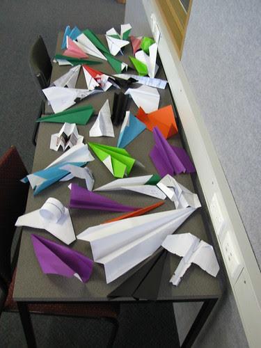 Paper planes in Book Week 09