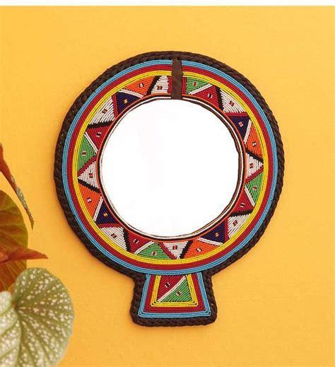 Unique Hand Beaded Maasai Mirrors   Swahili Modern