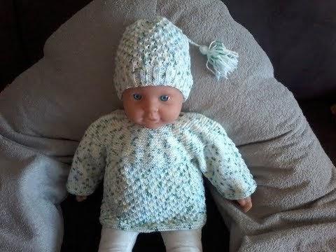 du fil aux aiguilles : Tuto tricot / tricoter un bonnet bébé au point graine d'orme