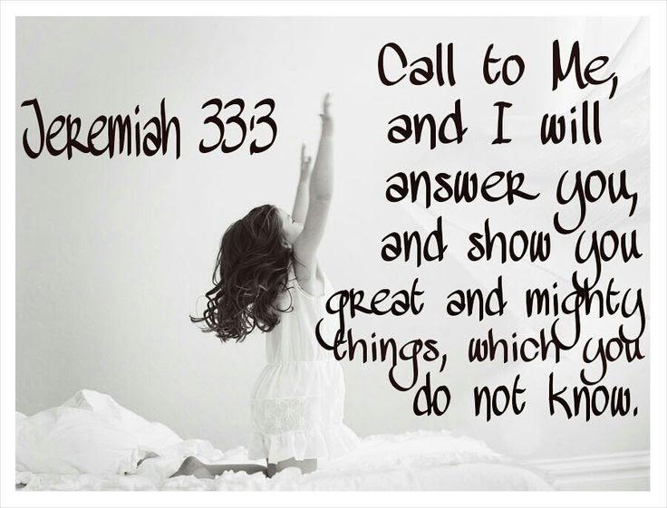 jeremiah 33 3 kjv