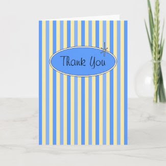 50's Retro Blueberries & Cream Thank You Card card