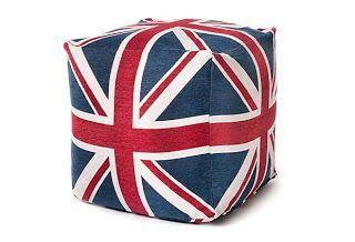 London, England, uk, united kingdom, british, union jack, union jack pouf, pouf seat, pillow. seating, the royal nursery