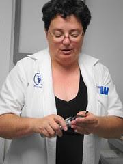 The Good Doctor prepares her instruments