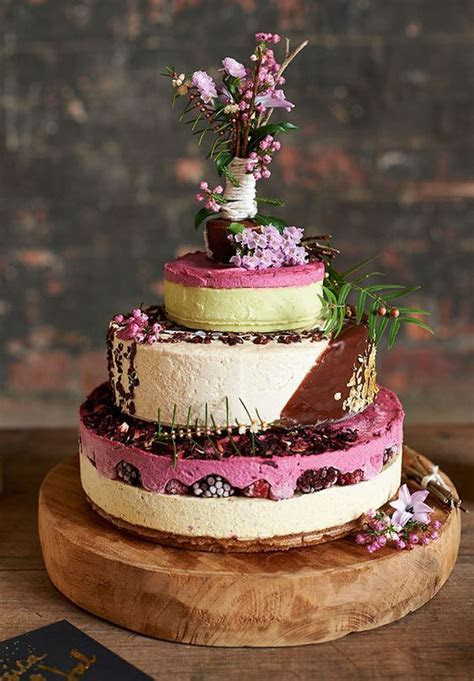 Cheesecake Wedding Cake   Chic Vintage Brides : Chic