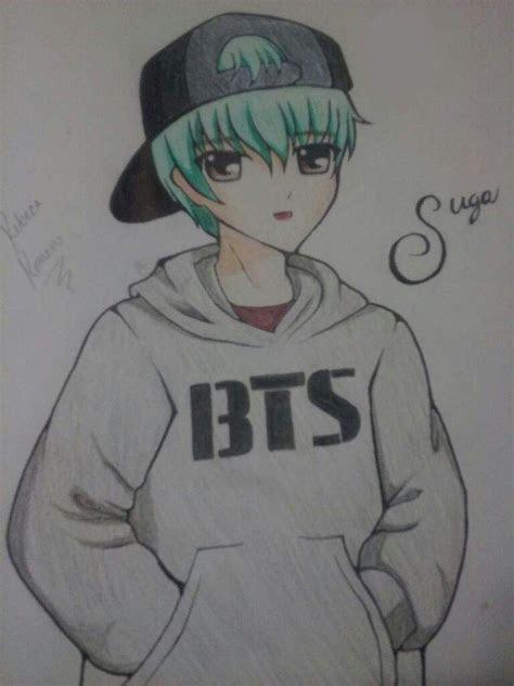bts anime drawings  pop amino