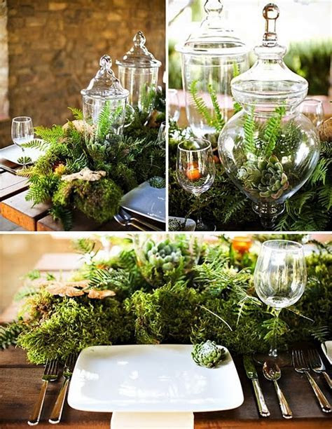 Picture Of dreamy woodland wedding table decor ideas 25