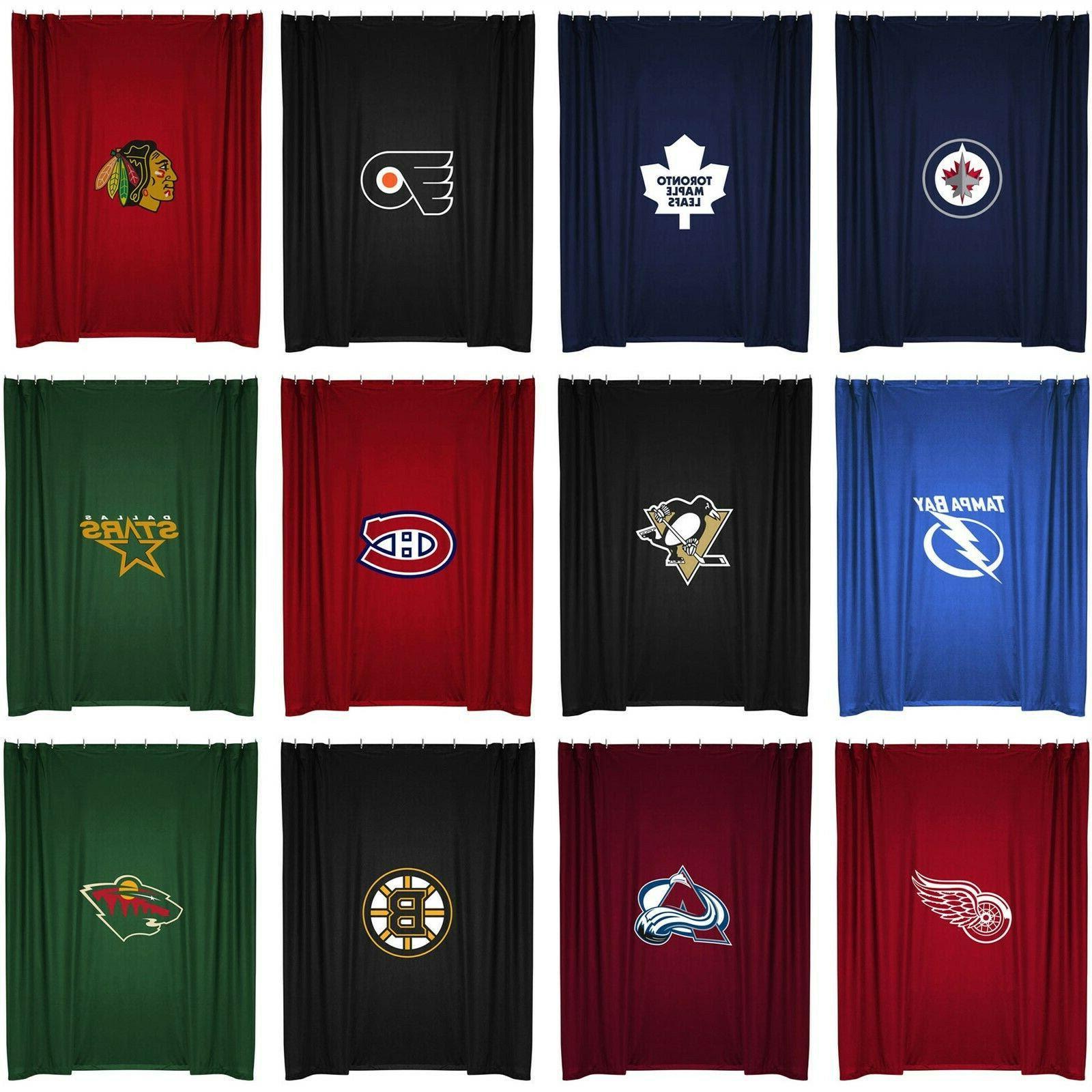 Bath Pick Your Team Nhl Hockey Team Logo Bath Shower Curtain Bathroom Accessories Home Garden Mbln Org