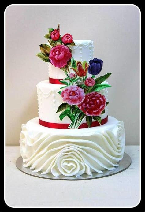 3146 best images about Wedding Cakes on Pinterest   Pretty