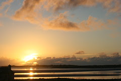 Vallay strand sunset