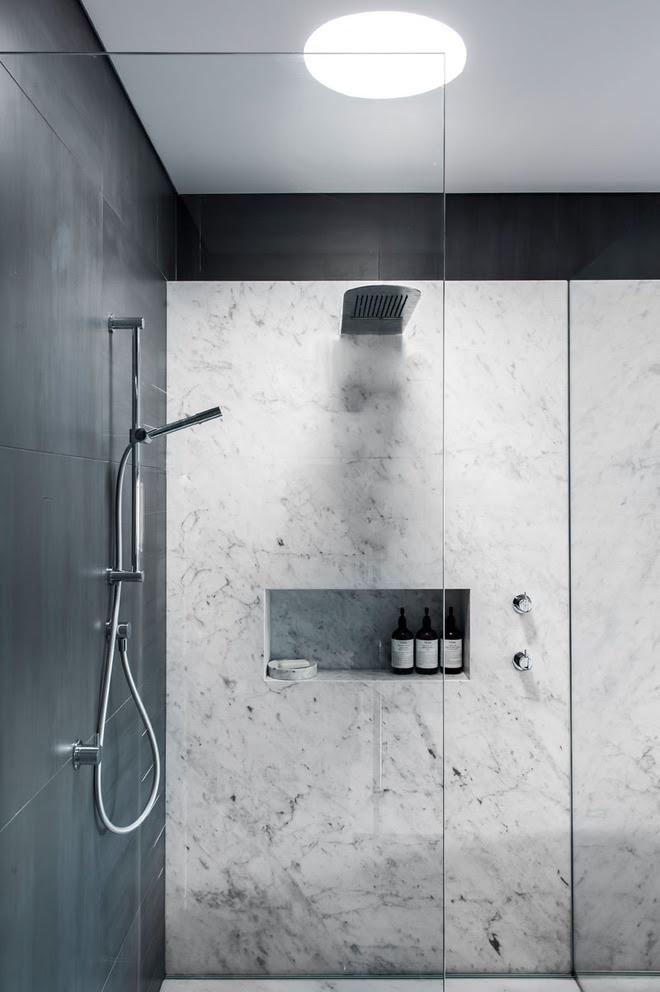 5 cách làm nhà tắm đẹp lên tức khắc nhờ đá cẩm thạch - Ảnh 6.