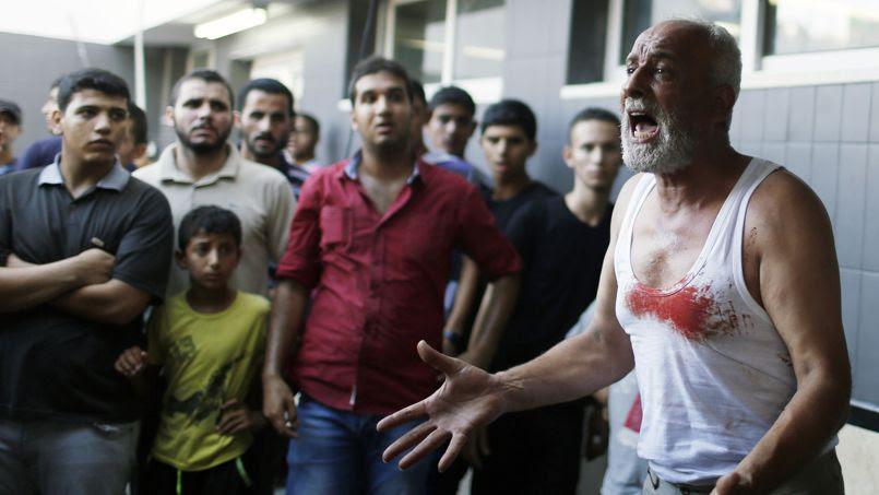 Le père d'un des enfants palestiniens tués lundi dans la bande de Gaza.