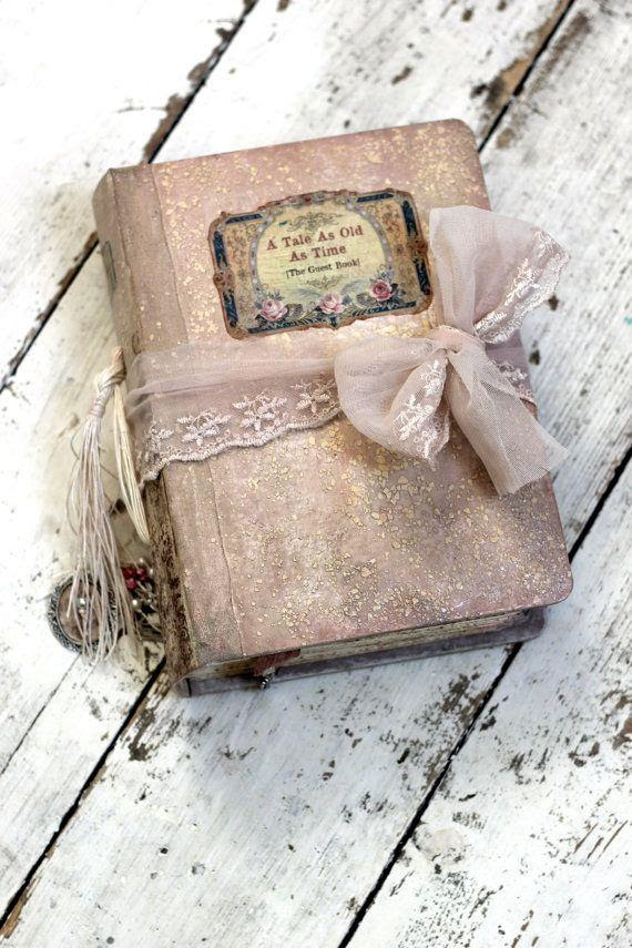 Fairytale Wedding Guest Book Blush Pinkphoto Album Shabby Chic
